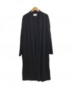 UNITED ARROWS(ユナイテッドアローズ)の古着「ニットガウンコート」|ブラック