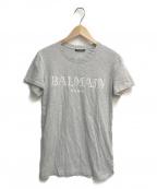 BALMAIN(バルマン)の古着「フォントロゴTシャツ」 グレー