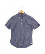 MACKINTOSH(マッキントッシュ)の古着「S/Sボタンダウンシャツ」|ブルー×ホワイト