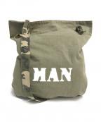 JUNYA WATANABE MAN(ジュンヤワタナベマン)の古着「チノコットンMANプリントショルダーバッグ」 グリーン