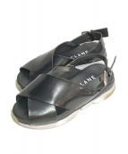 CLANE(クラネ)の古着「CROSS DESIGN SANDAL」 ブラック