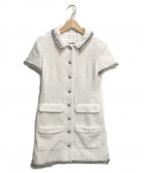 CHANEL()の古着「ツイードワンピース」|ホワイト