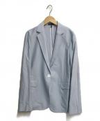 icB(アイシービー)の古着「ウォッシャブルカラーレスジャケット」|スカイブルー