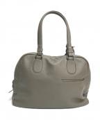 土屋鞄(ツチヤカバン)の古着「レザーバッグ」 ベージュ