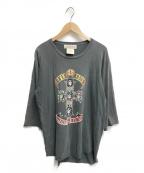 REMI RELIEF(レミレリーフ)の古着「別注ロックTシャツ」|ダークグレー