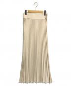 MUSE de Deuxieme Classe(ミューズ ドゥーズィエム クラス)の古着「マキシプリーツスカート」|アイボリー