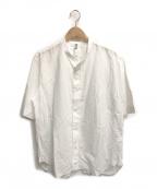 MHL(エムエイチエル)の古着「H/Sバンドカラーシャツ」|ホワイト
