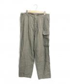 BLURHMS(ブラームス)の古着「WASH LINEN 5P EASY PANTS」 オリーブ