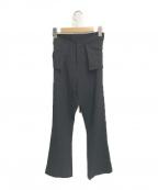 YOHJI YAMAMOTO(ヨウジヤマモト)の古着「ウエストデザインワイドパンツ」|ブラック