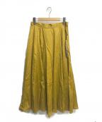 LOUNIE(ルーニー)の古着「ウォッシャブルスカート」 マスタード