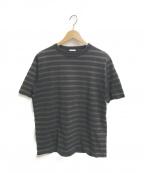 COMOLI(コモリ)の古着「ボーダーTシャツ」|グリーン