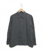 BEAMS()の古着「ウールシルク オープンカラーシャツ」|ブラック