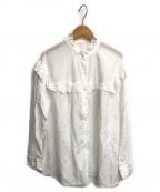 Spick and Span(スピックアンドスパン)の古着「コットンシルクフリルブラウス」|ホワイト