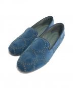 mina perhonen(ミナ ペルホネン)の古着「tambourineシューズ」|ブルー