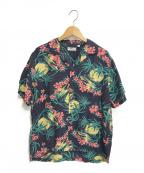 Sun Surf(サンサーフ)の古着「ハイビスカス柄アロハシャツ」|ネイビー×レッド