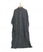 ticca(ティッカ)の古着「リネンシャツワンピース」 ブラック