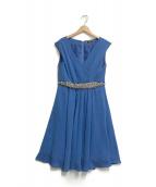 ()の古着「装飾カシュクールワンピース」|ブルー