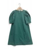 ()の古着「PUFF SLV DRESS」|グリーン