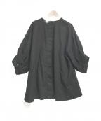 THE SHINZONE(ザ シンゾーン)の古着「レースオーバーブラウス」|ブラック