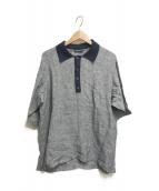 ()の古着「リネンポロシャツ」|グレー