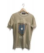 ()の古着「エンブレムプリントTシャツ」|ブラウン