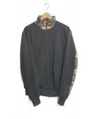 ()の古着「ボタニカル柄トラックジャケット」|ブラック