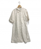 marimekko(マリメッコ)の古着「ウニッコ柄シャツワンピース」|ベージュ