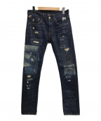 Denim & Supply Ralph Lauren(デニム&サプライ ラルフローレン)の古着「ダメージデニムパンツ」|インディゴ