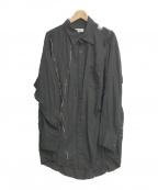 sulvam(サルバム)の古着「Silver line over shirt」|ブラック