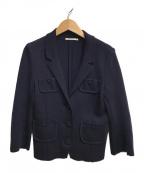 mina perhonen()の古着「ニットジャケット」 ネイビー