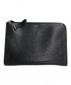 PELLE MORBIDA(ペッレモルビダ)の古着「CA205-クラッチバッグ」 ブラック