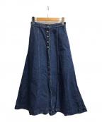 Acne studios(アクネストゥディオズ)の古着「Aラインデニムスカート」|インディゴ