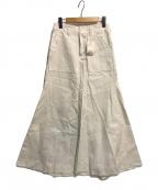 THE PAUSE(ザポーズ)の古着「バックサテンフレアスカート」|ホワイト