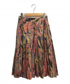 MARGARET HOWELL(マーガレットハウエル)の古着「Nallow pleat skirt」|ピンク