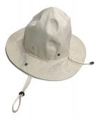 ()の古着「Rubberised Hat」 アイボリー