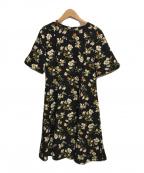 Lois CRAYON(ロイスクレヨン)の古着「プリントワンピース」|ブラック