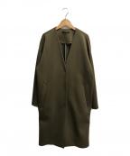 LAUTRE AMONT(ロートレアモン)の古着「ノーカラーコート」|オリーブ