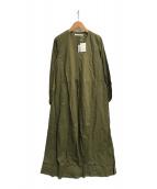 ()の古着「春の光のドレス」|グリーン