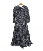 MARIHA(マリハ)の古着「マドモアゼルのドレス」 ネイビー×ホワイト