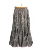 ()の古着「草原の虹のスカート」|ピンク