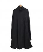 YOHJI YAMAMOTO(ヨウジヤマモト)の古着「ニットワンピース」|ブラック