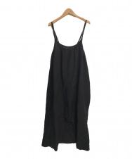 KAGURA (カグラ) リネンレーヨンキャミソールジャンパースカート ブラック サイズ:Free