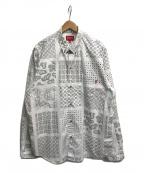 SUPREME(シュプリーム)の古着「Paisley Grid Shirt」 ホワイト