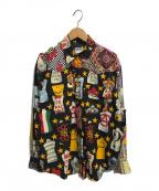 MOSCHINO(モスキーノ)の古着「総柄シャツ」|ブラック