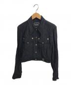 VERSACE(ヴェルサーチ)の古着「ショートジャケット」|ブラック