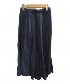 COMME des GARCONS tricot(コムデギャルソントリコ)の古着「デザイン切替スカート」 ネイビー