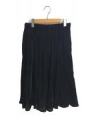 ()の古着「ベロアスカート」|ブラック