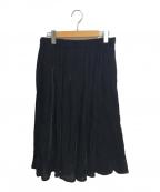 BLACK COMME des GARCONS(ブラックコムデギャルソン)の古着「ベロアスカート」 ブラック