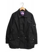 ()の古着「ステンカラーコート」|ブラック