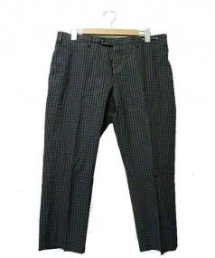 PT01(ピーティーゼロウーノ)の古着「センタープレスパンツ」|ネイビー×グレー